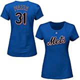Mike Piazza New York Mets #31 MLB Women's Cooperstown Player T-shirt (Large)