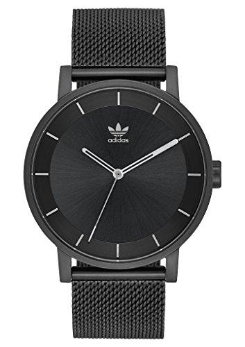 Watch Adidas Mens - adidas Watches District_M1. Milanese Stainless Steel Bracelet, 20mm Width (All Black/Gunmetal. 40 mm).