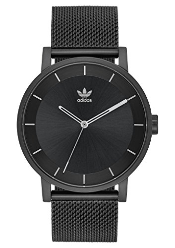 adidas Watches District_M1. Milanese Stainless Steel Bracelet, 20mm Width (All Black/Gunmetal. 40 mm).