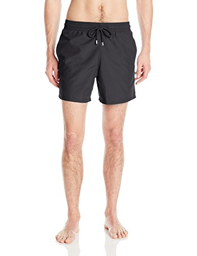 Vilebrequin Men's Moorea Solid Swim Trunk, Black, Large by Vilebrequin