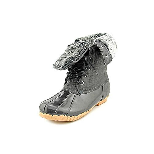 Sporto Womens Daphne Faux Fur Closed Toe Mid-Calf Rainboots, Black, Size 7.0 (Boots Rain Sporto)