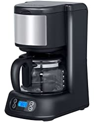 COSTWAY Portable Coffee Maker, 5-Cup Programmable Coffee Brewer Simple Automatic Coffee Machine Digital Control with Timer, Glass Coffee Pot (5-Cup)