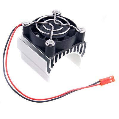 FidgetGear RC 7020 Silver Alum Heat Sink 5V Fan 40x40x10mm Cooling for 540 550 Motor from FidgetGear