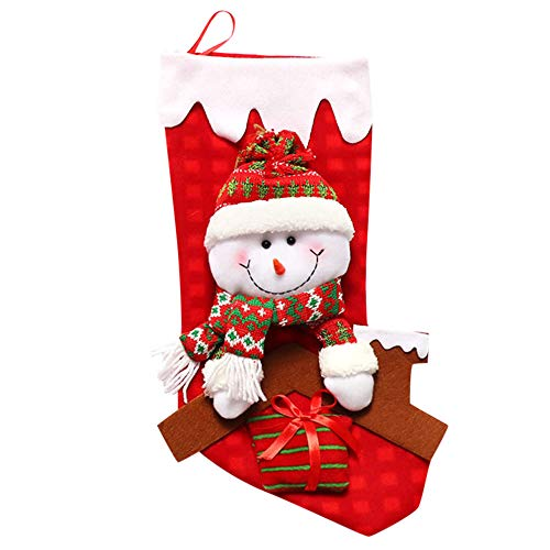 certainPL Happy New Year Christmas Stocking Candy Gift Bag Xmas Tree Hanging Ornament -