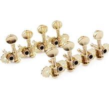 DN Gold Mandolin Machine Heads Tuning Pegs Keys Metal Button Set