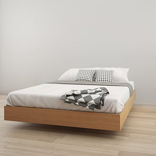 - Nordik 346005 Queen Size Platform Bed, Natural Maple