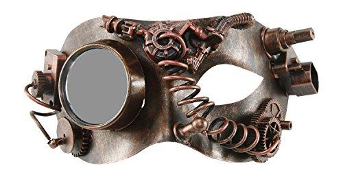 Mad Scientist Mask (KAYSO INC The Mad Scientist Victorian Steampunk Half Face Masquerade Mask (Vintage Bronze))