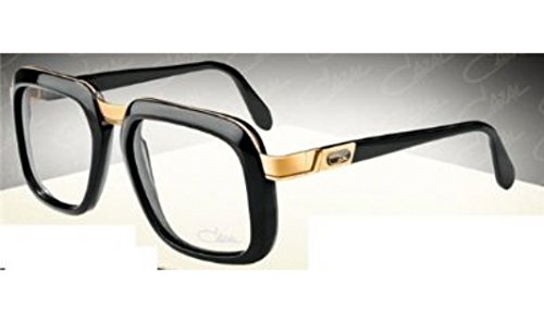 Cazal 616 Eyeglasses 001 Black/Gold Clear Lens 56 - Eyeglasses 001 Black
