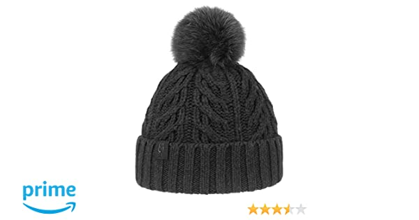7019c61d5cff0 UGG Women s Cable Knit Pom Beanie Black One Size at Amazon Women s Clothing  store