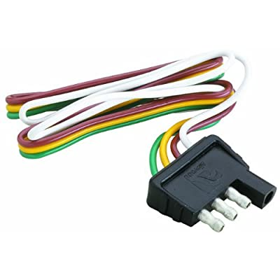 Attwood Trailer Wiring 4 Way Flat Harness/Connector (12-Inch Plug) : Sports & Outdoors [5Bkhe0807523]
