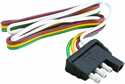Amazon.com : Attwood Trailer Wiring 4 Way Flat Harness/Connector (12-Inch  Plug) : Sports & Outdoors