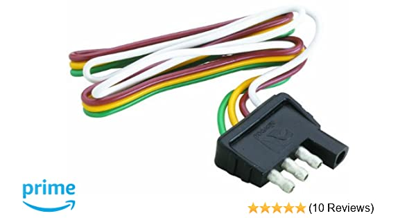 Amazon.com : Attwood Trailer Wiring 4 Way Flat Harness/Connector (12 on 4 wire plug connector, three wire trailer harness, wiring harness, five wire trailer harness, 6 wire trailer harness, 7 wire trailer harness,