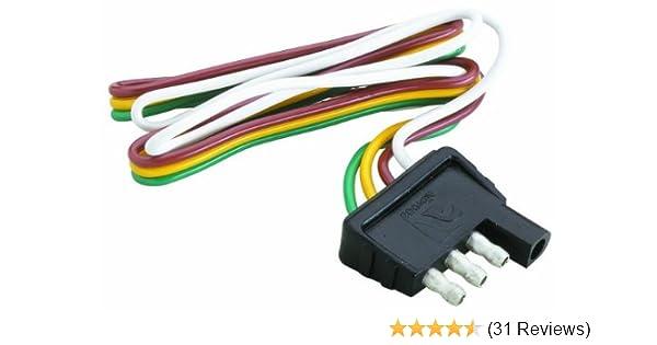 Amazon.com : Attwood Trailer Wiring 4 Way Flat Harness/Connector (12-Inch  Plug) : Sports & OutdoorsAmazon.com