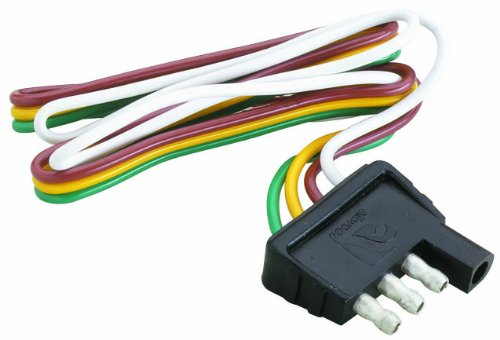 Attwood Trailer Wiring 4 Way Flat Harness/Connector (12-Inch Plug)
