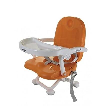 Aziamor - Rehausseur de chaise pour enfants Gnammy Primanova - Siège avec table pour repas et sevrage ARANCIO