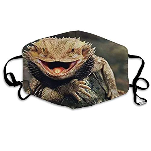 NOT Bearded Dragon Lizards Art Print Personality Lovely Unisex Dust Mask, Suitable for Young Men and Women, Ski Bike Camping Windproof Motorcycle Face Mask
