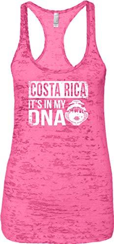 Blittzen Ladies Tank Costa Rica It's in My DNA, M, Pink