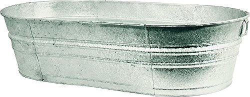 Behrens Hot Dipped Steel Oval Tub, 33.5 gallon