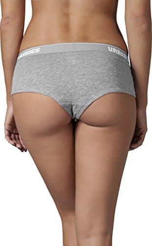 Urban Classics grey Panty 111 Pantaloni Logo Sportivi Double pack Grigio Ladies Donna rHdfqUxr