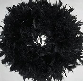 Fluffy Black Chandelle Feather Wreath...Gorgeous Home Accent Wreath!