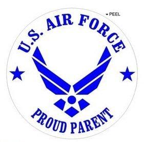 (Proud Parent - United States Airforce Wings USAF - Window Bumper Locker Sticker)