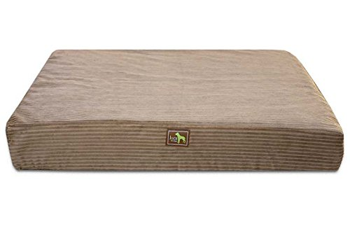 Luca for Dogs Orthopedic Rectangle Dog Bed w Easy-Wash Cover