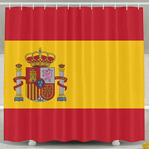 MdsdWXza Flag Spain Fashion Shower Curtain Deluxe Waterproof Bath Curtain by MdsdWXza