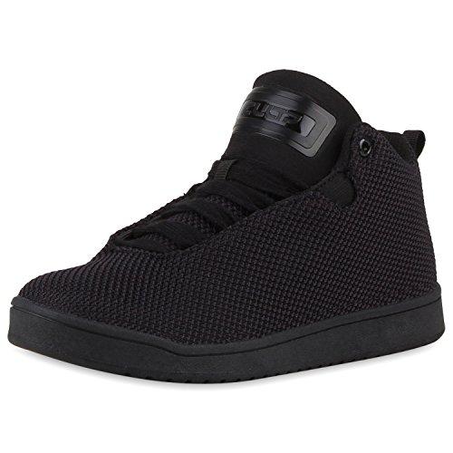 Paradis Des Bottes Unisexe Hommes Chaussures De Sport, Basket-ball Sur La Taille Flandell Noir