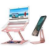 Adjustable Laptop Stand Rose Gold + Adjustable