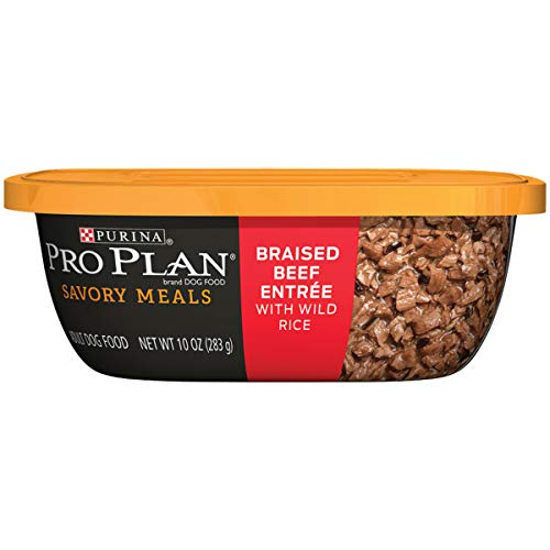 Purina Pro Plan Wet Dog Food; Savory Meals Braised Beef Entree With Wild Rice - (8) 10 oz. Tubs