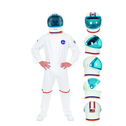 (Charades Adult Astronaut Helmet Costume Accessory, white, One)