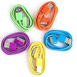 (Cable) Lightning 30-Pin to USB Colorful Charging Sync Data Cable for iPhone4/4S iPad iPod (100 cm,Assorted Colors) , Orange
