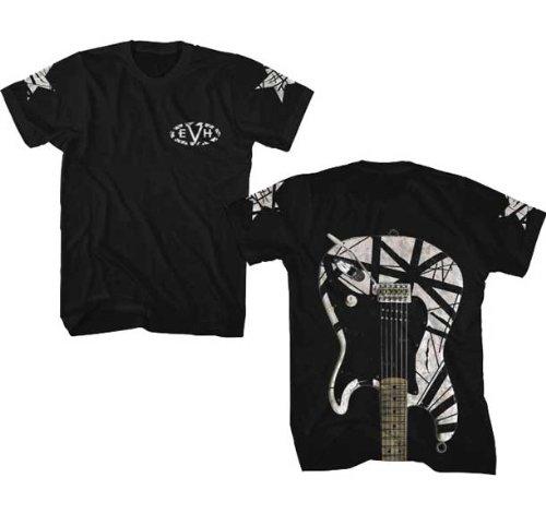 Van Halen Eddie White Stripe Guitar Slim Fit T-Shirt