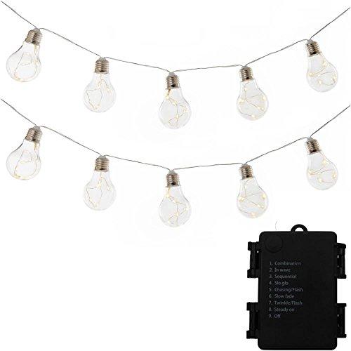 Clear Bulb Solar Patio Lights in US - 9