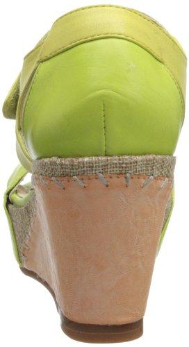 Tutte Le Donne Ocra Platform Sandal Green Multi