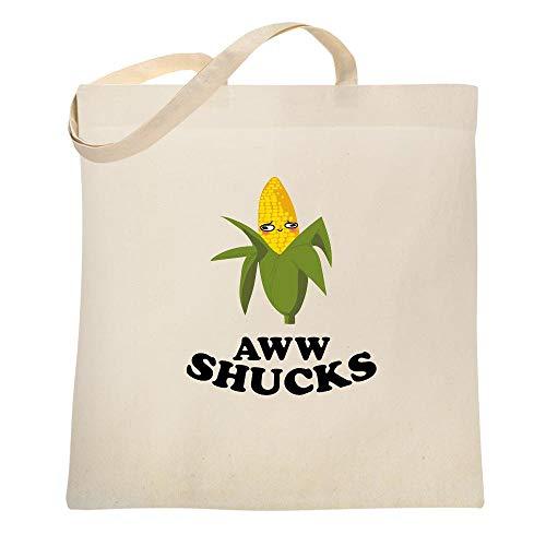 Aww Shucks Ear of Corn Cute Funny Natural 15x15 inches Canvas Tote Bag