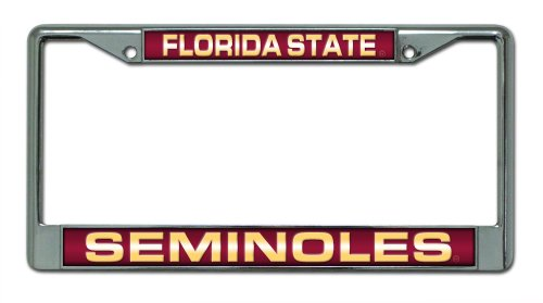 NCAA Florida State Seminoles Laser Cut Chrome Plate Frame