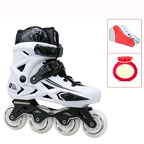 - LDDYC Roller Skates Outdoor Recreation Beginners Adult Youth Womens Safe and Durable Racing Skates Black White (Color : B, Size : EU 41/US/8/UK 7/JP 25.5cm)
