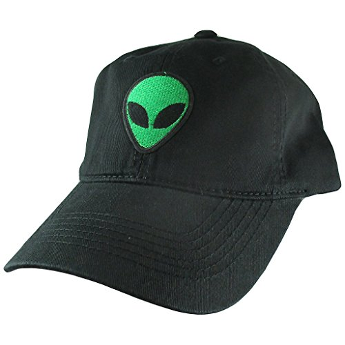 (AffinityAddOns Alien Dad Hat, Black Baseball Cap, Embroidered Patch)