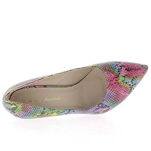 de 12cm tacon mujer Multicolor cintura bombas sharp grandes escalas 74dx8R