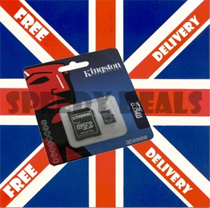 Kingston 1GB MicroSD Memory Card (SDC/1GBKR, Retail Package)