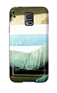 (aKlyVbQ3501aBWQs)durable Protection Case Cover For Galaxy S5(a Boy In White In A White Car)
