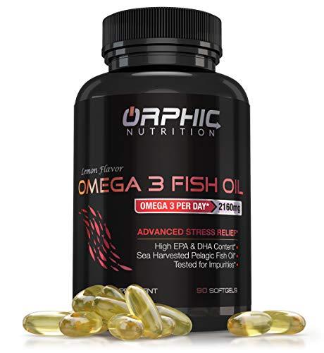 Omega 3 Fish Oil Max Potency Burpless Capsules – 3,600mg Fish Oil + 2,160mg Omega 3 + 1,296mg EPA + 864mg DHA – Best Essential Fatty Acids Supplement for Heart, Eye, Joint & Brain Health, Cholesterol