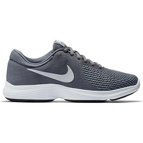 Nike Dames Revolutie 4 Loopschoen Donkergrijs Puur Platina Koel Grijs Wit