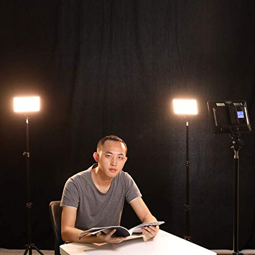LED Videoleuchte mit Stativ & Tragetasche, SUPON 3 Pack Dimmbarer 3300K-5600K LED Zweifarbig Video Licht mit Akku & Ladegerät für Studiofotografie, YouTube, Tiktok, Videokonferenz