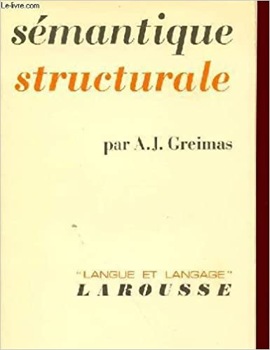 Semantique Structurale Recherche De Methode A Greimas