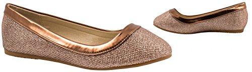 Elara - Zapatillas de casa Mujer Rose Gold