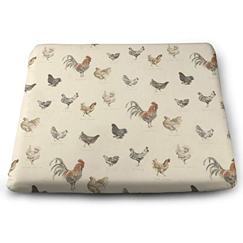 (NEHomer Square Chair Pads Cock Rooster Pattern Seat Cushions Comfortable Seat Cushion with Filling | Beautiful and Decorative Cushions for Home,Kitchen, Dining Room and Chair Pads)