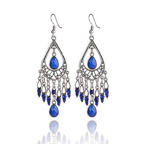 SANDIN Boucles doreilles pendantes en cristal de Boh/ême durables pour bijoux vintage