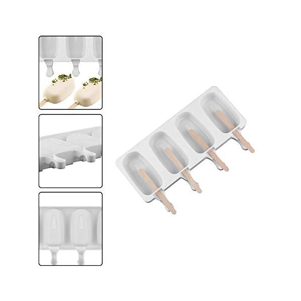 Wisilan - Stampi in gel di silice per gelato con motivo spray, per decorare vaschette del ghiaccio 4.8x9cm White-l 3 spesavip